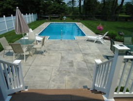 Wallingford, CT Concrete Pool Deck